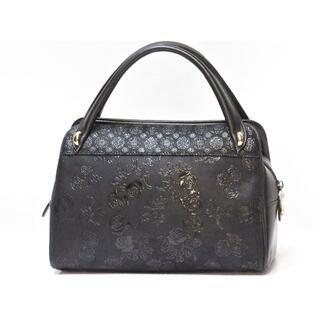 インデンヤ(印傳屋)の印傳屋 ハンドバッグ 黒 ブラック 日本製 INDENYA(ハンドバッグ)