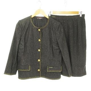 レオナール(LEONARD)のレオナールファッション LEONARD FASHION シルクデニム スーツ 黒(スーツ)