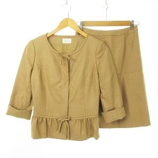 ハロッズ(Harrods)のセットアップ スーツ 七分袖 リボン×フリル ノーカラージャケット × スカート(スーツ)