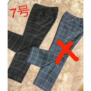 AOKI - 洋服の青山 レディーススーツ テーパードパンツ7号 左ブラウン