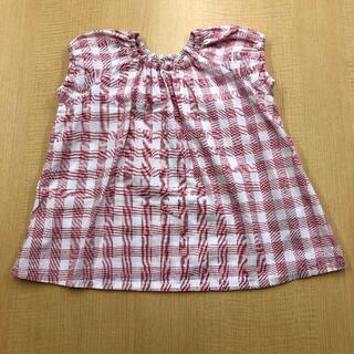 ムジルシリョウヒン(MUJI (無印良品))の無印良品|半袖ブラウス チュニック 90・赤×柄(ブラウス)