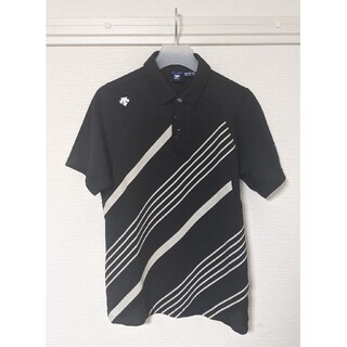 デサント(DESCENTE)の【値下げ不可】 デサント ゴルフ ライジングプリント 半袖ポロシャツ メンズ(ウエア)