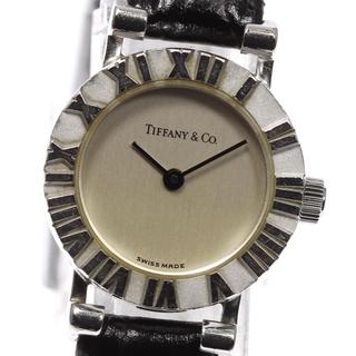 ティファニー(Tiffany & Co.)のティファニー アトラス 革ベルト S0640 クォーツ レディース 【中古】(腕時計)