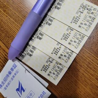 メイテツヒャッカテン(名鉄百貨店)の名鉄株主優待乗車券 4枚(鉄道乗車券)