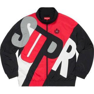 シュプリーム(Supreme)の【新品】Supreme Big Letter Track Jacket 黒 M(ナイロンジャケット)