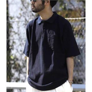 コモリ(COMOLI)のDRESS Ground  Polo Shirt  NEAT Mサイズ ネイビー(ポロシャツ)