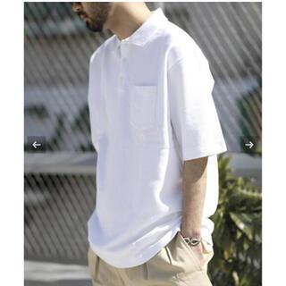 コモリ(COMOLI)のDRESS Ground  Polo Shirt  NEAT Mサイズ ホワイト(ポロシャツ)