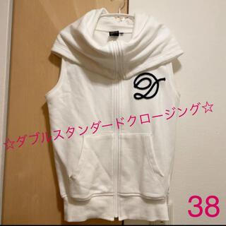 ダブルスタンダードクロージング(DOUBLE STANDARD CLOTHING)の☆ダブルスタンダードクロージング☆ベストパーカー 白 38(ベスト/ジレ)