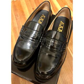 AAA - 学生靴 メンズローファー 合成皮革 27cm E E E  黒