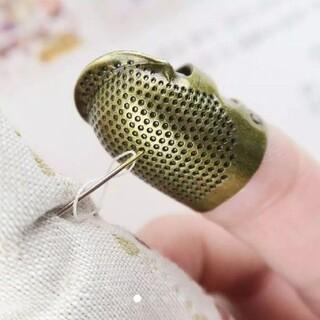 新品 アンティーク調 指ぬき 指貫 ゆびぬき  パッチワーク 刺繍(その他)