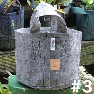 ルーツポーチ☆アメリカのトート型エコ植木鉢ポット【3ガロン】生分解性グレー(プランター)