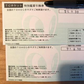 トウホウ(東邦)の映画チケット TOHOシネマズ TCチケット 2枚(その他)