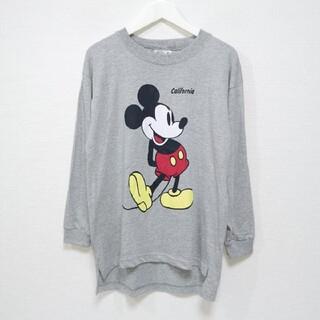 ミッキーマウス(ミッキーマウス)の90s ミッキーマウス MICKEY ロンT Tシャツ DISNEY USA製(Tシャツ/カットソー(七分/長袖))