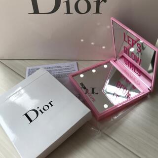 ディオール(Dior)のディオール Dior ミラー 女優ミラー ライト ピンク ロゴ 箱 限定 レア(ミラー)