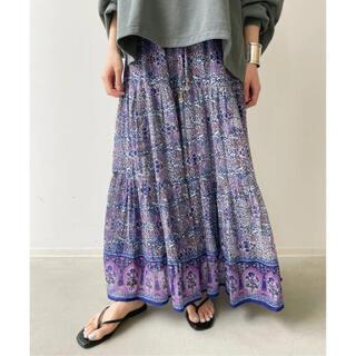 アパルトモンドゥーズィエムクラス(L'Appartement DEUXIEME CLASSE)の【BLUE BOHEME/ブルー ボヘム】Cotton Tiered Skirt(ロングスカート)