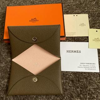 エルメス(Hermes)のHERMES エルメス カルヴィ カードケース バイカラー(名刺入れ/定期入れ)