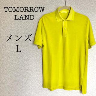 トゥモローランド(TOMORROWLAND)のTOMORROW LAND ポロシャツ Lサイズ 黄色 ゴルフウェア メンズ(ポロシャツ)