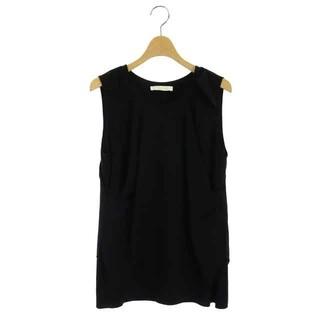 クロエ(Chloe)のクロエ CHLOE ブラウス カットソー ノースリーブ 34 黒 ブラック(シャツ/ブラウス(半袖/袖なし))