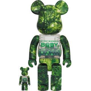 メディコムトイ(MEDICOM TOY)のbe@rbrick b@by forest green 100% 400%(キャラクターグッズ)