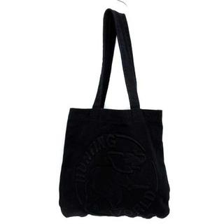 ハンティングワールド(HUNTING WORLD)のハンティングワールド トートバッグ ショルダーバッグ キャンバス ロゴ 黒(トートバッグ)