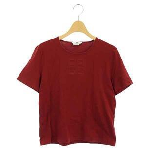 ジバンシィ(GIVENCHY)のジバンシィ Tシャツ カットソー 半袖 ロゴ クルーネック L ダークレッド(Tシャツ(半袖/袖なし))