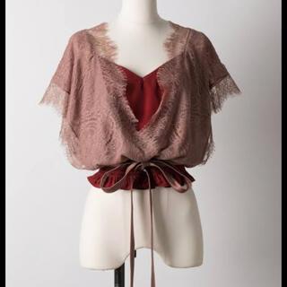 ラベルエチュード(la belle Etude)のラベルエチュード カシュクールレースブラウス(シャツ/ブラウス(半袖/袖なし))