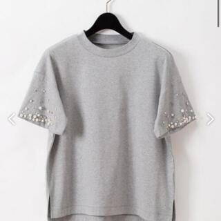 グレースコンチネンタル(GRACE CONTINENTAL)のパールビジュートップ(Tシャツ(半袖/袖なし))