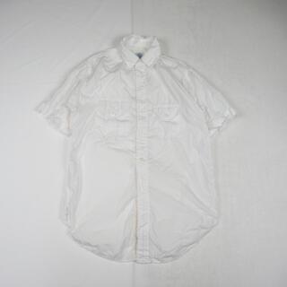 ポストオーバーオールズ(POST OVERALLS)のPOST O'ALLS ポストオーバーオールズ  半袖 シャツ 白 USA製(シャツ)