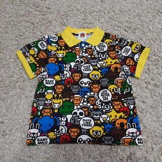 アベイシングエイプ(A BATHING APE)のA BATHING APE エイプ マイロ ポロシャツ 超美品 100 90 (Tシャツ/カットソー)