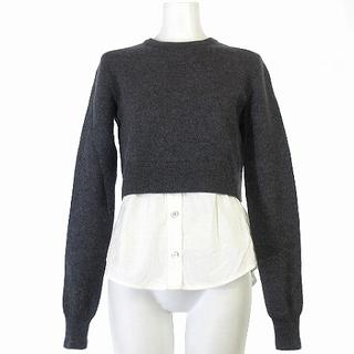 マークバイマークジェイコブス(MARC BY MARC JACOBS)のマークバイマークジェイコブス ニット セーター 切替 シャツ グレー XS(ニット/セーター)