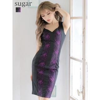 エンジェルアール(AngelR)の32758*sugarブランドヴァネッサハート*パープルフラワーレースドレス(ナイトドレス)