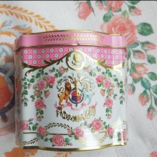 ハロッズ(Harrods)のバッキンガム宮殿 エリザベス女王95歳バースデー記念ティーキャディー 紅茶缶(茶)