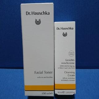 ドクターハウシュカ(Dr.Hauschka)のDr.ハウシュカフェイシャルトナー化粧水&Drハウシュカクレンズクリーム洗顔料(化粧水/ローション)