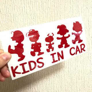 スヌーピー チャーリー サリー 集合 ステッカー キッズインカー ベイビー 子供(外出用品)