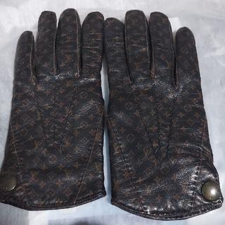 ルイヴィトン(LOUIS VUITTON)のルイヴィトン レザーグローブ カシミア100%(手袋)