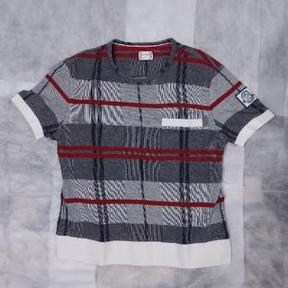 モンクレール(MONCLER)のモンクレールガムブルー チェック ポケットTシャツ(Tシャツ/カットソー(半袖/袖なし))