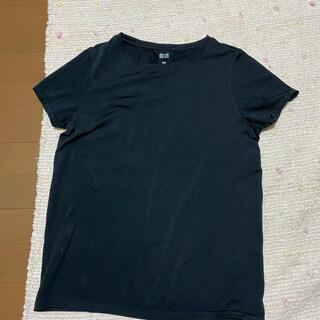 ユニクロ(UNIQLO)のユニクロ Tシャツ 黒(ヨガ)
