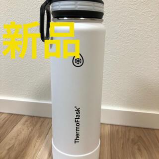 コストコ(コストコ)のサーモフラスク  ステンレスボトル まほうびん 0.7L 水筒 白 ホワイト(水筒)