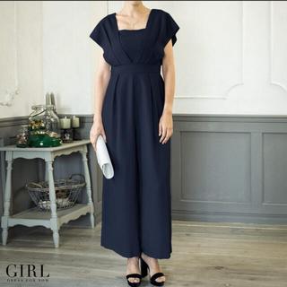 ガール(GIRL)の最終価格【美品】GIRL パンツドレス オールインワン☆サイズL(ロングドレス)