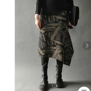 アンティカ(antiqua)のアンティカ アシメ スカート(ひざ丈スカート)