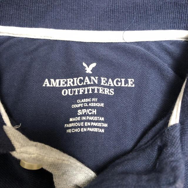 American Eagle(アメリカンイーグル)のポロシャツメンズ S アメリカンイーグルAmerican Eagle 紺ネイビー メンズのトップス(ポロシャツ)の商品写真