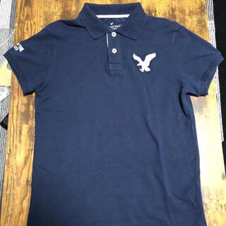 American Eagle - ポロシャツメンズ S アメリカンイーグルAmerican Eagle 紺ネイビー