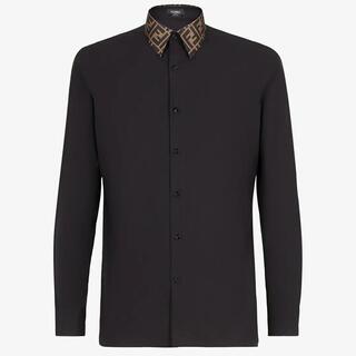 フェンディ(FENDI)のFENDI ブラックコットンシャツ (シャツ)