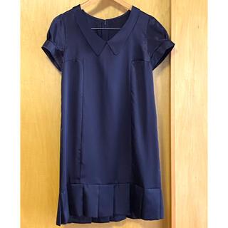 フェリシモ(FELISSIMO)の襟付 裾プリーツ ワンピース(ひざ丈ワンピース)