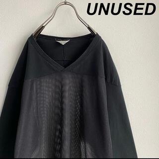 アンユーズド(UNUSED)のUNUSED メッシュ フットボールT 3 black No.16(Tシャツ/カットソー(七分/長袖))