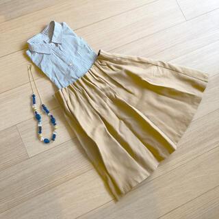 ドアーズ(DOORS / URBAN RESEARCH)のURBAN RESEARCH ひざ丈スカート&チェックワイシャツ セット売り(ひざ丈スカート)