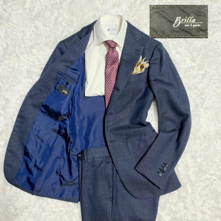 BEAMS - 美品!ブリッラペルイルグスト シングル セットアップ スーツ ネイビー 紺 42