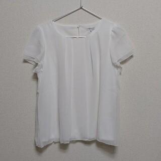 WHITE THE SUIT COMPANY スーツカンパニー ブラウス 半袖