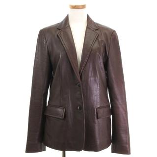 ラルフローレン(Ralph Lauren)のラルフローレン テーラードジャケット シングル オールレザー 羊革 茶色 9(その他)