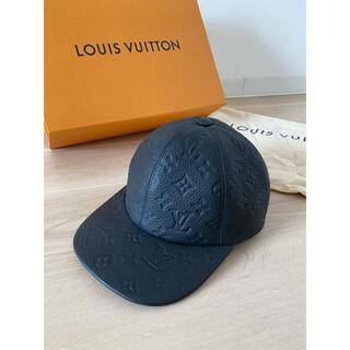 ルイヴィトン(LOUIS VUITTON)のlouisvuitton キャップ キャスケット・1.1 モノグラム レザー(キャップ)